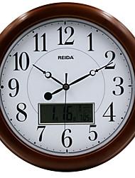 Rond Moderne/Contemporain Horloge murale,Autres Bois 40*40*2.5