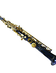 Blue paint gold key one Sax,soprano saxophone,Woodwind instruments