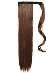коричневый 60см синтетический высокая температура проволоки парик прямые волосы конский хвост цвет 4a / 33