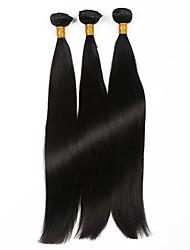 7а прямо девственница волос 3 пучки / много, дешевые необработанные монгольские прямые волосы человеческие волосы пучки