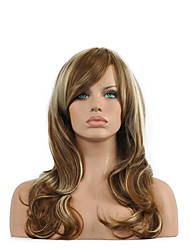 Natural Long Length Multi-color Popular Synthetic Wig For Woman
