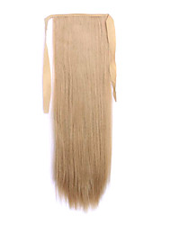 Flaxen Length 60CM Synthetic Bind Type Long Straight Hair Wig Horsetail(Color 25)