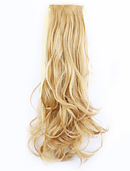 Golden Length 50CM Factory Direct Sale Bind Type Curl Horsetail Hair Ponytail(Color 26)
