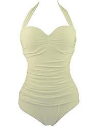 Summer Retro Female's Swimwear Apricot