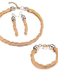 Schmuck Halsketten / Ohrringe / Armband Schmuckset vergoldet Modisch Party / Alltag / Normal Aleación 1 Set Damen Goldfarben