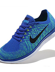 Nike Free Flyknit 4.0 Men's Sneaker Running Shoes Fabric Blue / Red