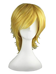 Cosplay Wigs Vocaloid Leo Golden Short Anime Cosplay Wigs 35 CM Heat Resistant Fiber Male / Female