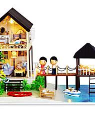 para una casa de productos de bricolaje cabaña de regalo del día de las Maldivas casa montaje manual chino de San Valentín