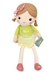 echte Frühlingsmädchen Puppe Plüschspielzeugpuppe Baby-Puppe Puppe Mädchen Geschenk Vogel beige Rock Sitzhöhe 25 cm zu beschwichtigen