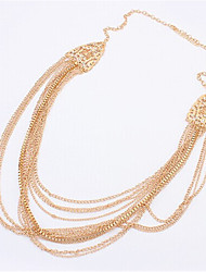Necklace Pendant Necklaces Jewelry Wedding / Party / Daily / Casual Alloy / Rhinestone Gold 1pc Gift