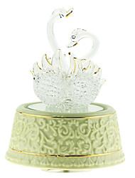cerâmica caixa de romântico criativo branco música para o presente