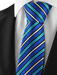KissTies Men's Striped Microfiber Tie Necktie For Formal Wedding Holiday With Gift Box (3 Colors Available)