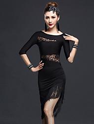Werden wir Latin Tanz Outfits Frauen schlank 2 Stück Tanz Kostüme