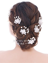 Bride's Headdress Flower Modelling Hair Clasp Wedding Hair Accessories Married Go New Hair Hair Fork 10pcs
