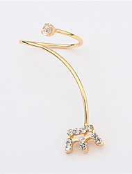 New Arrival Nail Crown Ring Daisy Shape Bezel Setting Rhinestone Fingernail Ring Fashion Ring