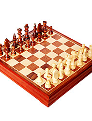 Pure Wooden Chess Large Wooden Chess Sets Students Introductory Special Size: 105 * 40 Mm High