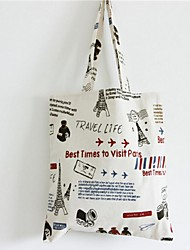 Women Canvas Casual / Shopping Shoulder Bag White