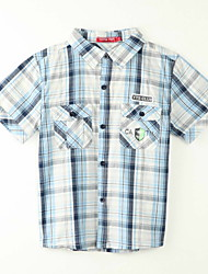 Boy's Polyester Shirt,Summer Plaid