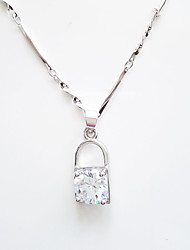 Silver Pendant Necklaces Wedding / Party / Daily / Casual 1pc Jewelry