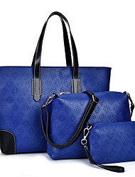 Women PU Formal / Casual / Office & Career / Shopping Tote / Bag Sets White / Blue / Gold