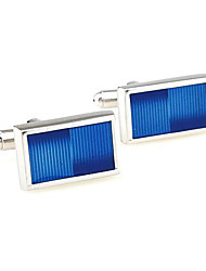 Men's Fashion Blue Face Alloy French Shirt Cufflinks (1-Pair) Christmas Gifts