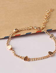 Women's New European Style Fashion Fresh Simple Heart Charm Bracelets Christmas Gifts
