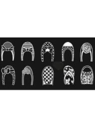 Bluezoo ebay retângulo azul stamping nail art (6)