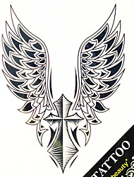 1PC  Water Transfer Big Picture Tattoo Stickers Man Back Tattoo Wing +Cross