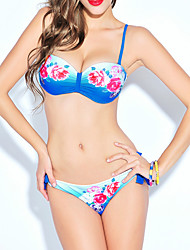 Damen Bikinis - Floral Polyester Riemchen