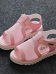 Girl's Sandals Spring Comfort Leatherette Outdoor Yellow Pink White
