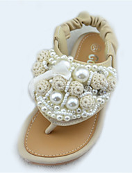 Girls' Shoes Outdoor Comfort / Open Toe Glitter Sandals Pink / Ivory