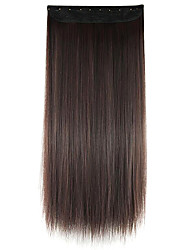 Wig Chocolate color 60CM High Temperature Wire Length Straight Hair Synthetic Hair Extension