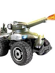 control remoto blindado vehículo de combate de control remoto de carga de coche de juguete puede lanzar pequeños tanques de bala regalos