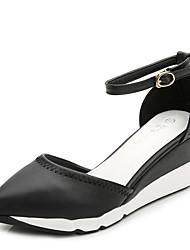 Women's Shoes  Wedge Heel Heels / Comfort / Pointed Toe / Closed Toe Heels Dress Black / Silver