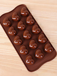 DIY Handmade Chocolate Tools Heart Shape Baking Mold Silicone Cake Mold 3D Flower Valentine's Day Summer Style