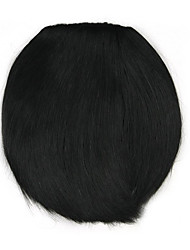 Kinky Curly Black Straight Human Hair Weaves Chignons 4010