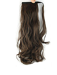 Length Brown Wig Curls Ponytail 60CM Synthetic Body Wave High Temperature Wire Color 2/30