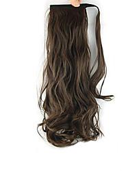 коричневый Длина парик завитки конский хвост 60см синтетическая Объемная волна высокой температуры проволоки цвет 2/30