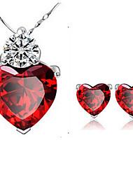 Crystal Alloy Jewelry Set Necklace/Earrings for Women Fine Jewelry