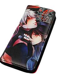 Bag / Wallets Inspired by Tokyo Ghoul Ken Kaneki Anime Cosplay Accessories Wallet Black PU Leather Male / Female