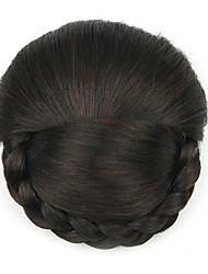 verworrene lockige schwarze Art und Weise menschliches Haar capless Perücken Chignons 2/33