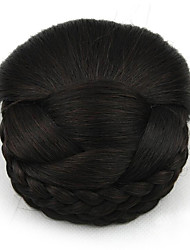 Kinky фигурная черный европы невесты человеческих волос монолитным парики шиньоны SP-159 2/33