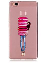 Macaron motif material girl tpu cas de téléphone pour huawei p9 / p9 Lite