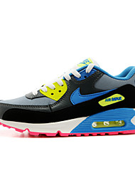 Sapatos Corrida Feminino Azul Couro Envernizado / Tule / Tecido