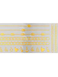Tattoo Stickers Airbrush Tattoo Stencils Women / Adult Gold Paper 1 23*10*0.3