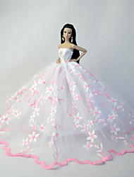 Wedding Dresses For Barbie Doll White / Pink Dresses