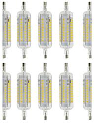 5W R7S Bombillas LED de Mazorca T 60 SMD 2835 800 lm Blanco Cálido / Blanco Fresco Decorativa / Impermeable AC 100-240 V 10 piezas