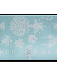 Lovely HENNA Lace Big White Face Sticker 02