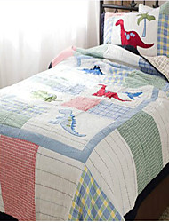 "2PC Quilt Sets Full Cotton Cartoon Dinosaur Pattern Soft 90""W*98""L"