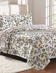 "3PC Quilt Sets Full Cotton Euro Floral Pattern 98""W*90""L"